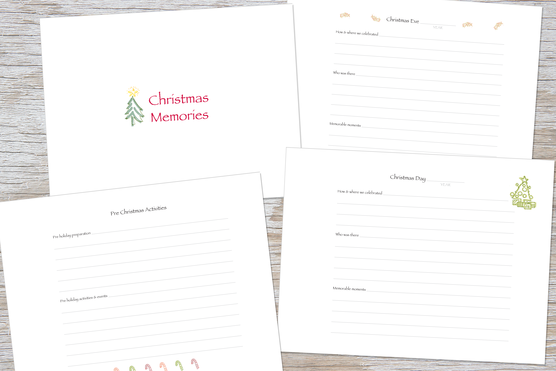 memorieschristmas memory book olive handmade paper - Christmas Memories Book