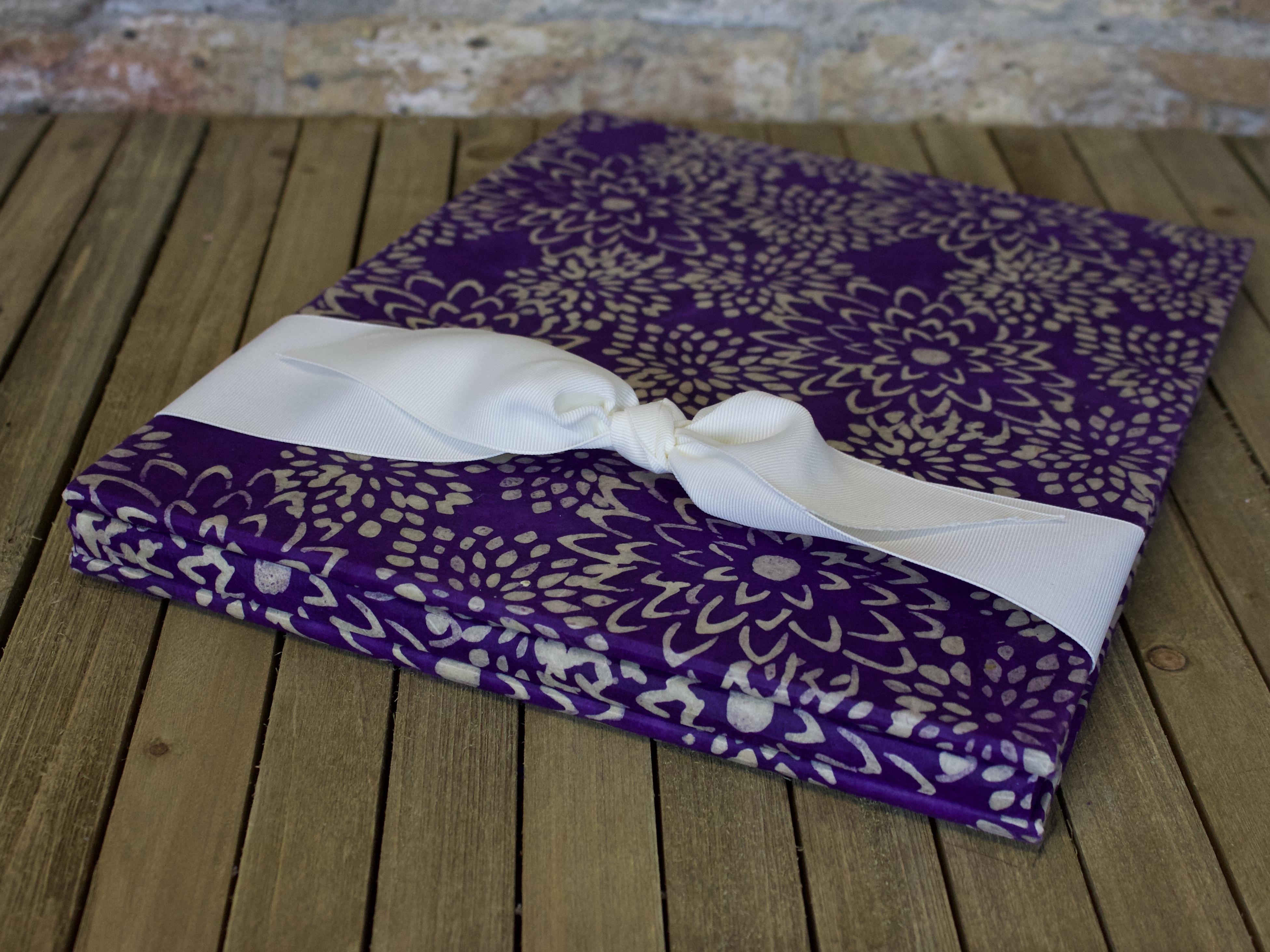 bookbridal shower keepsake purple mum handmade paper