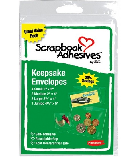 Adhesive Keepsake Envelopes 10pkg