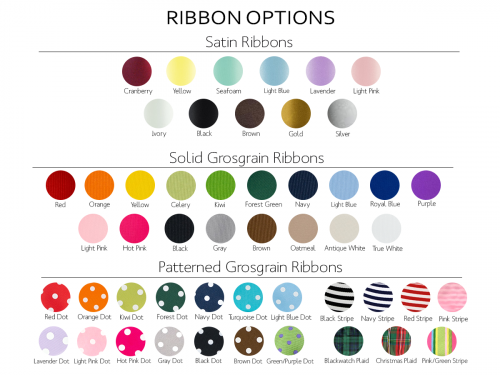 Ribbon Options with Satin, Grosgrain and Patterned Options