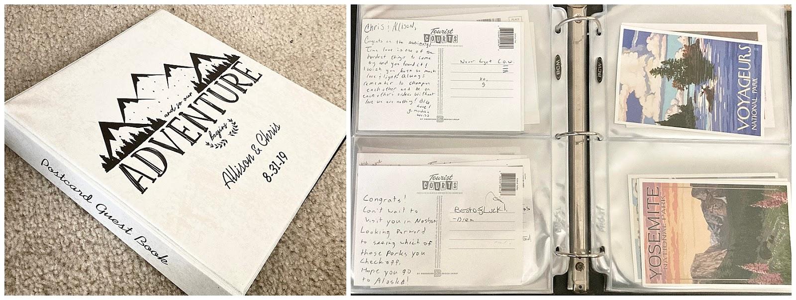 Postcard Wedding Guest Book