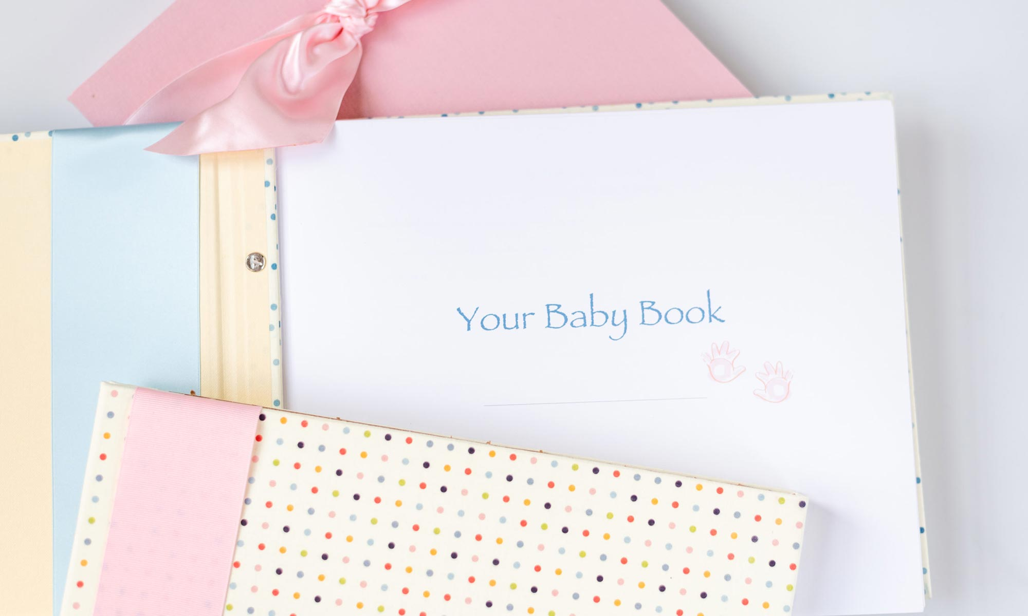 pink cloth baby memory books