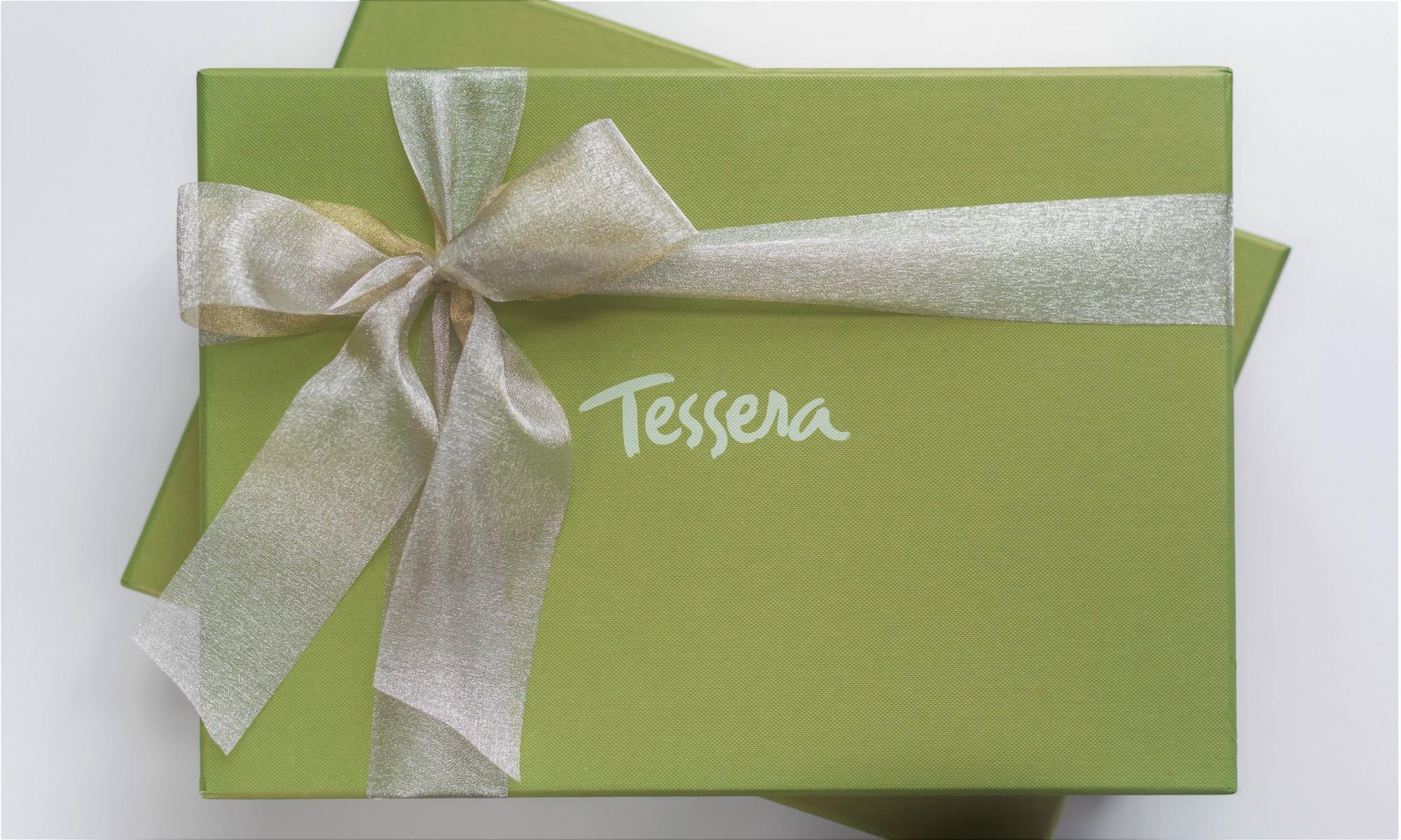 Green Tessera Gift Box with Ribbon