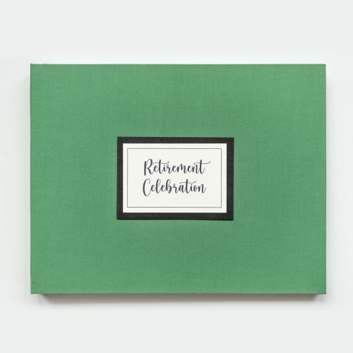 Retirement Celebration Guest Book in Green