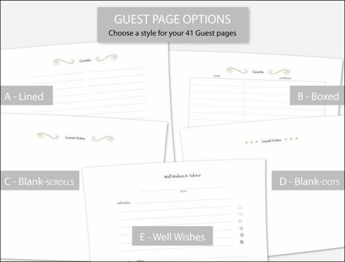 5 guest page options