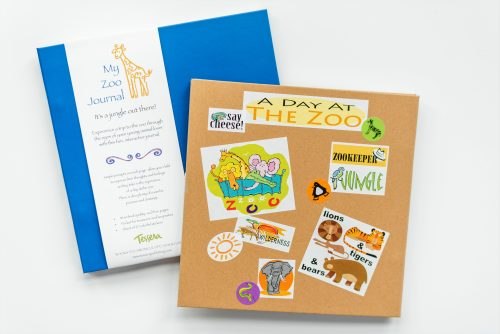 Zoo kids journal cover with stickers on cover C